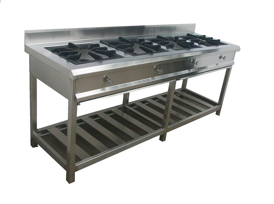 Cocinas industriales cocina industrial tl 04 hornillas for Distribucion de cocinas industriales